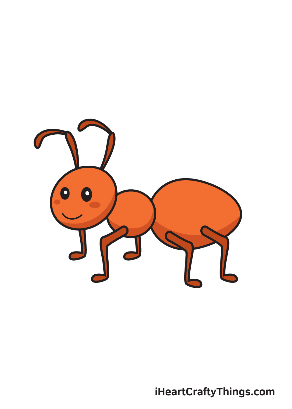 ant drawing 9 steps