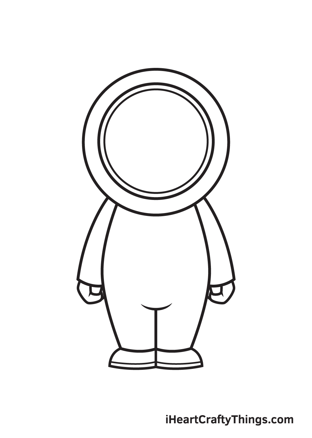 astronaut drawing step 6
