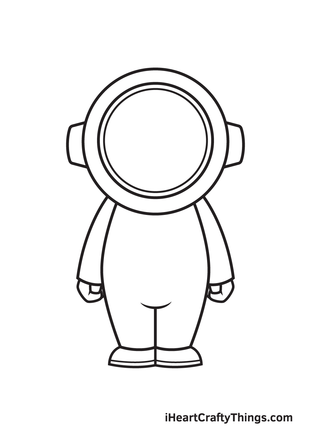 astronaut drawing step 7