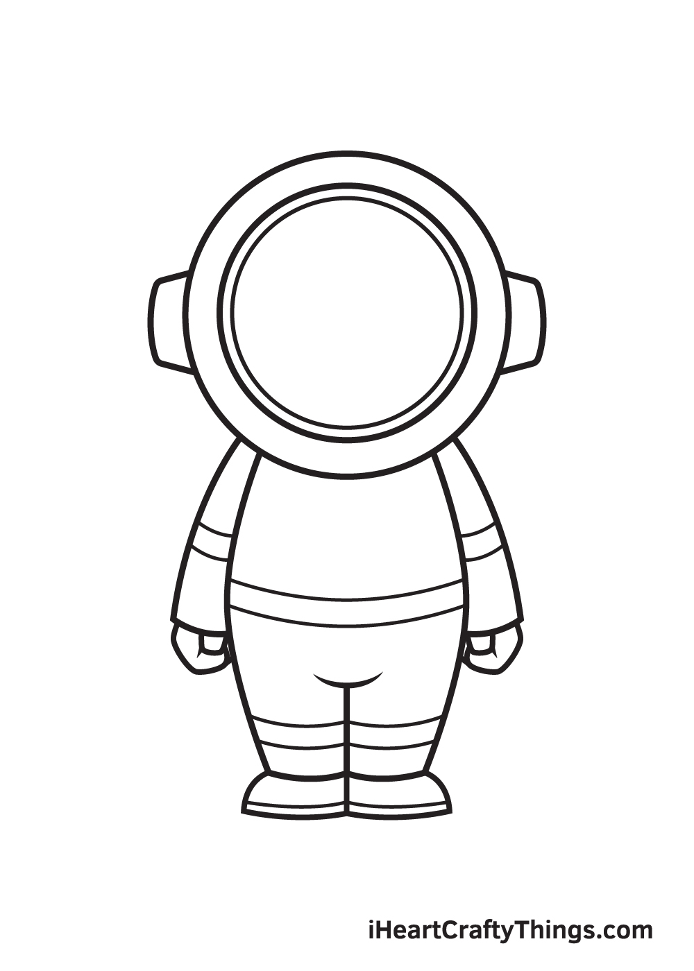 astronaut drawing step 8