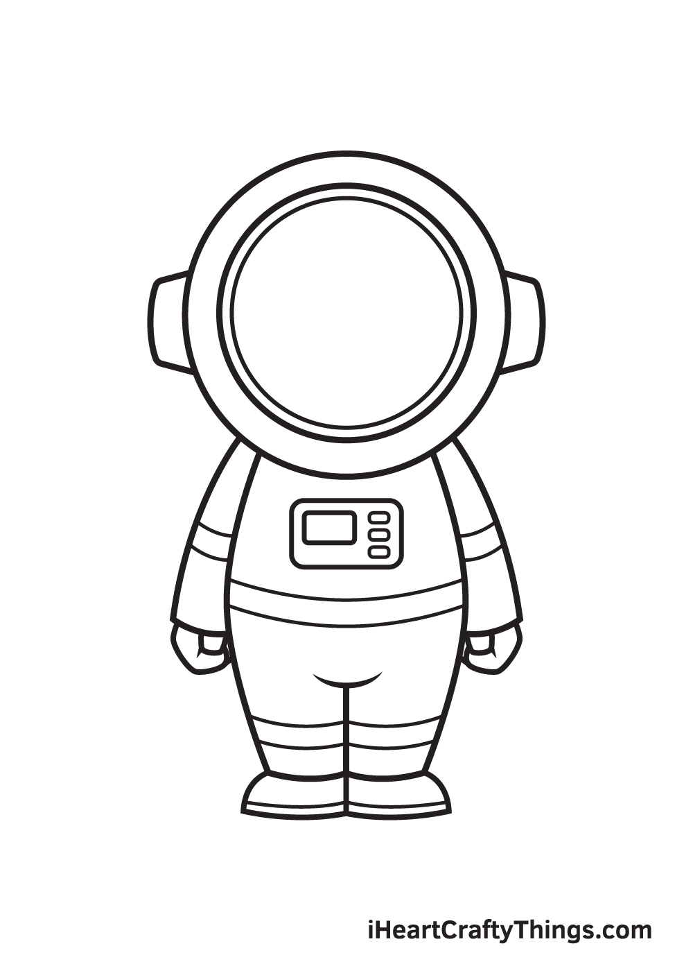 astronaut drawing step 9