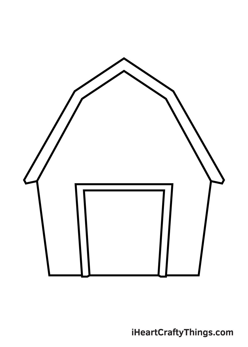 barn drawing step 4
