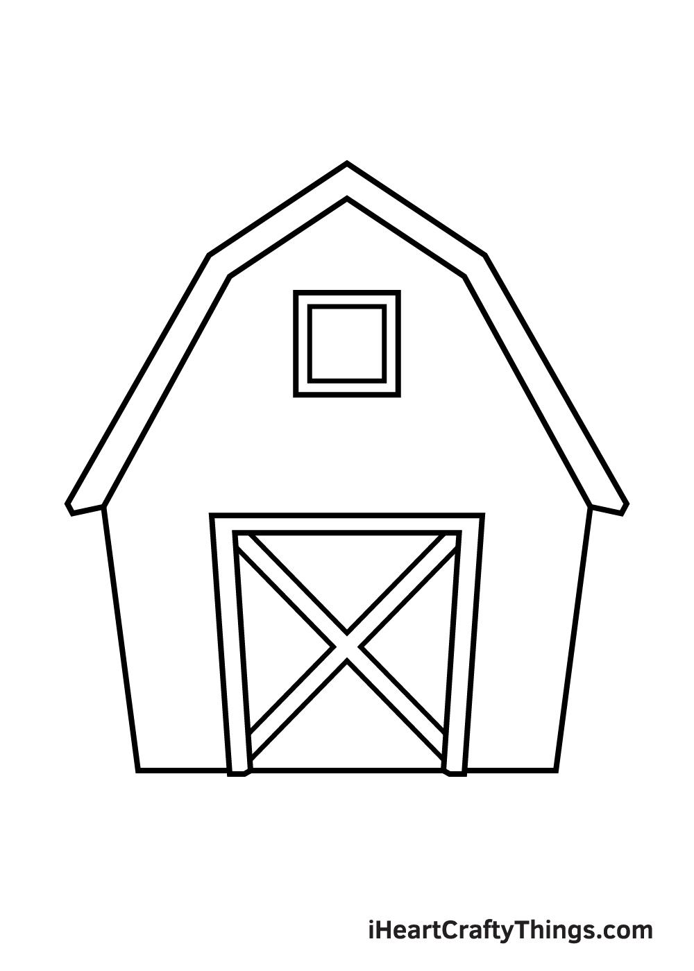 barn drawing step 6