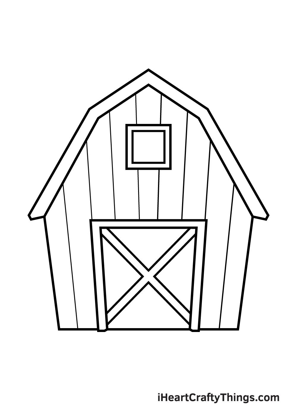 barn drawing step 7