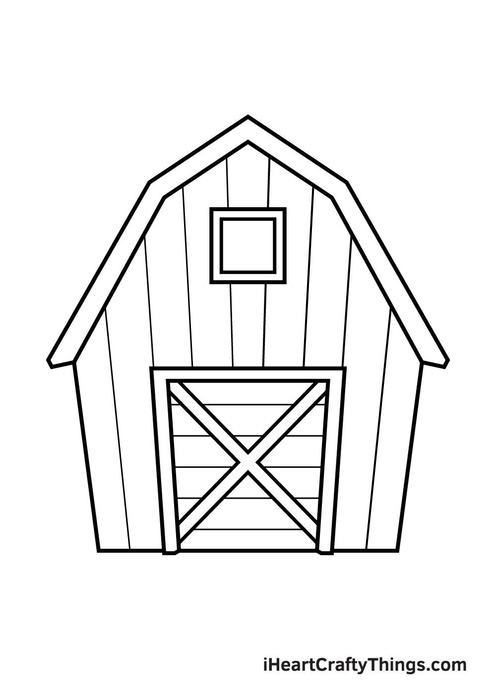 barn drawing step 8