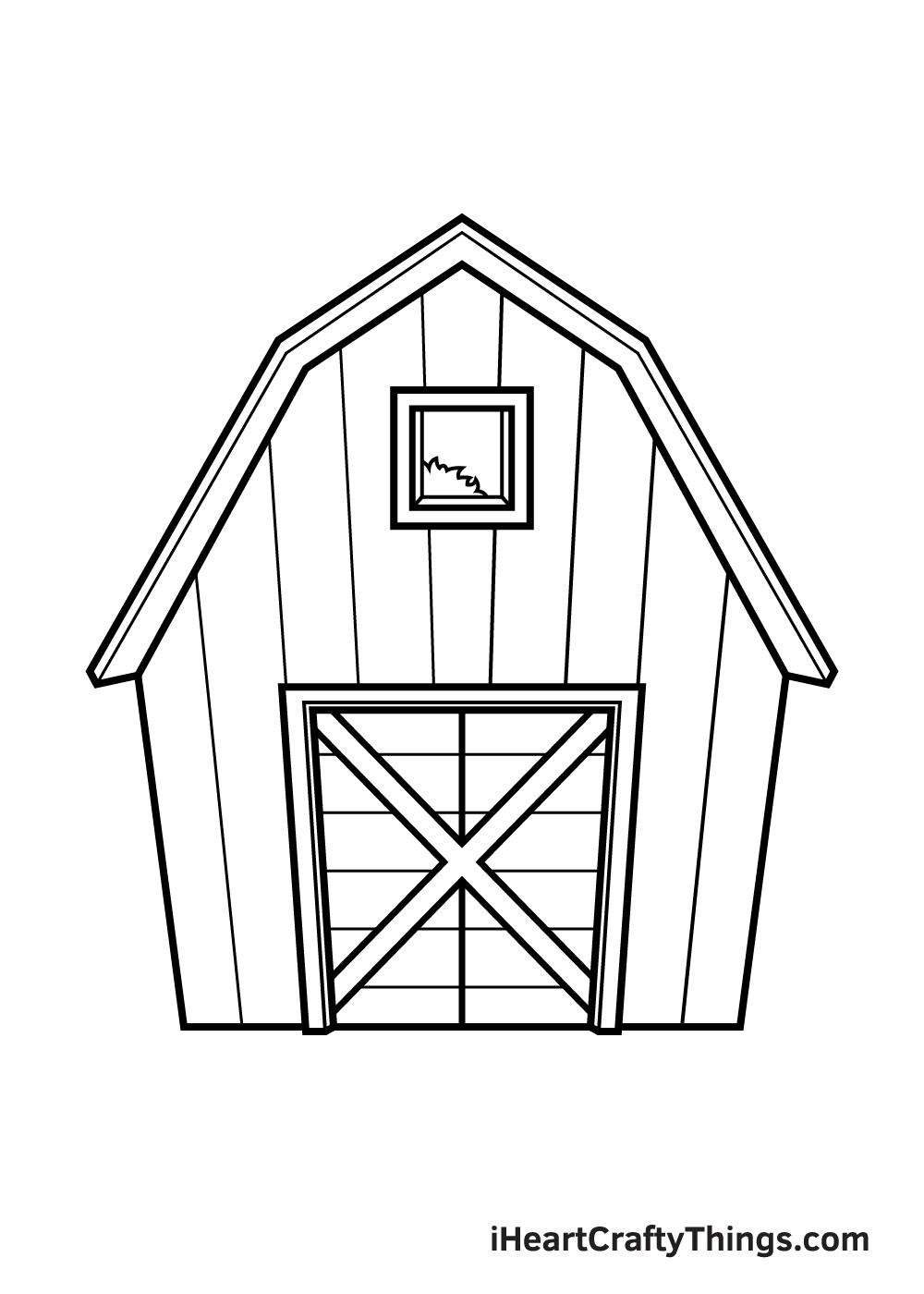 barn drawing step 9