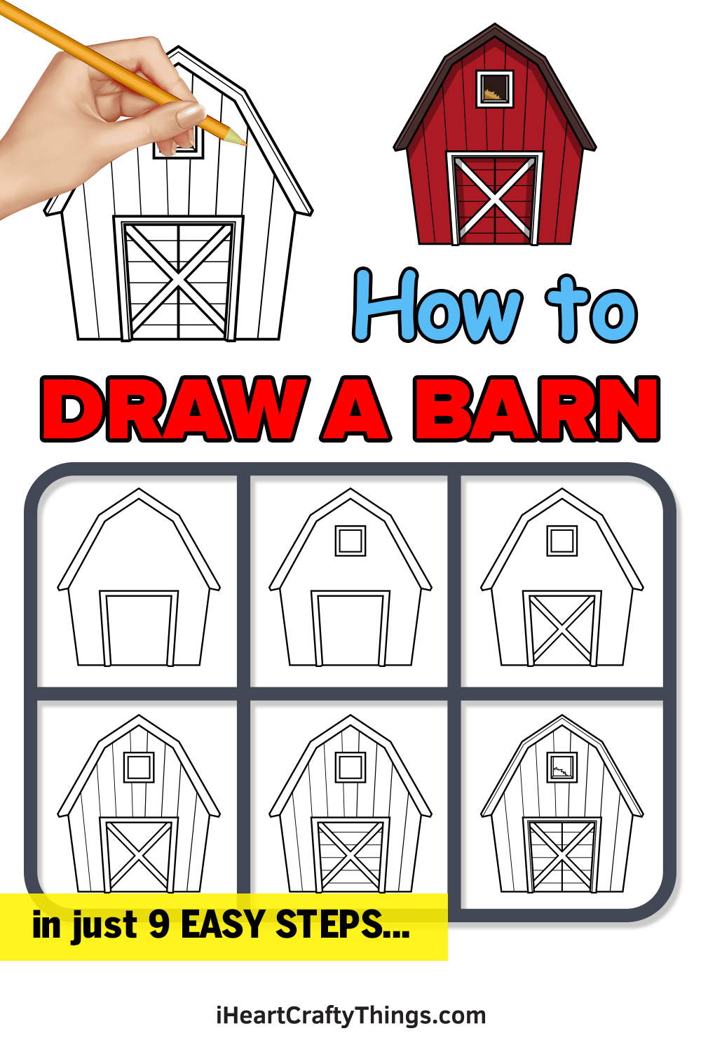how to draw a barn in 9 easy steps