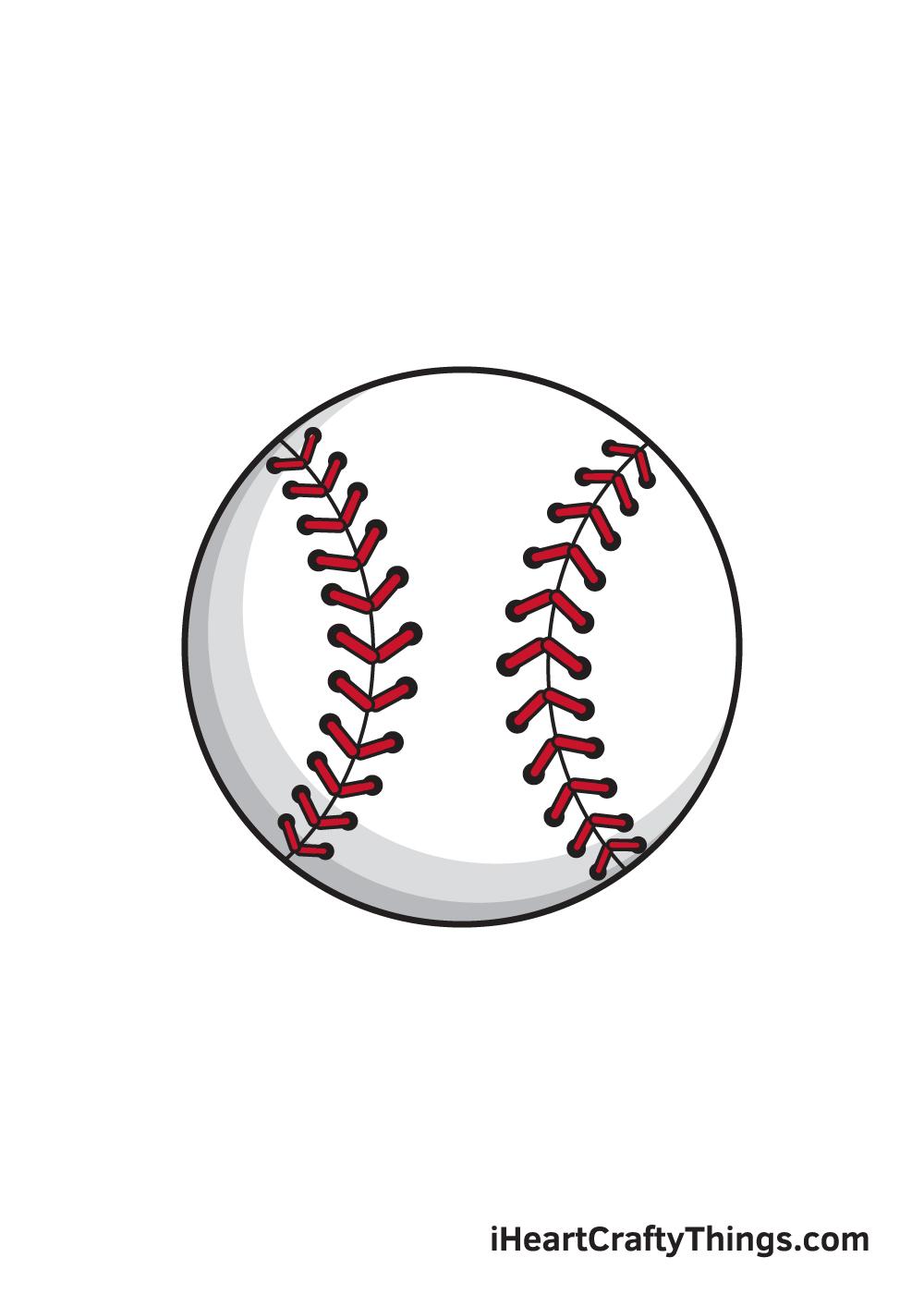 baseball drawing 9 steps