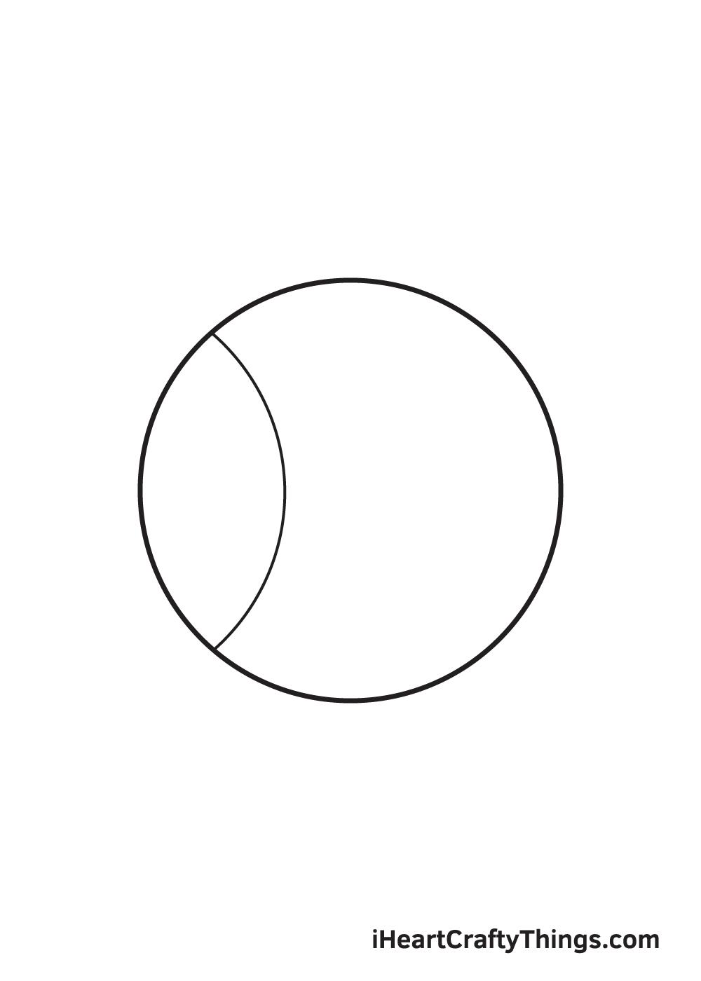 baseball drawing step 3