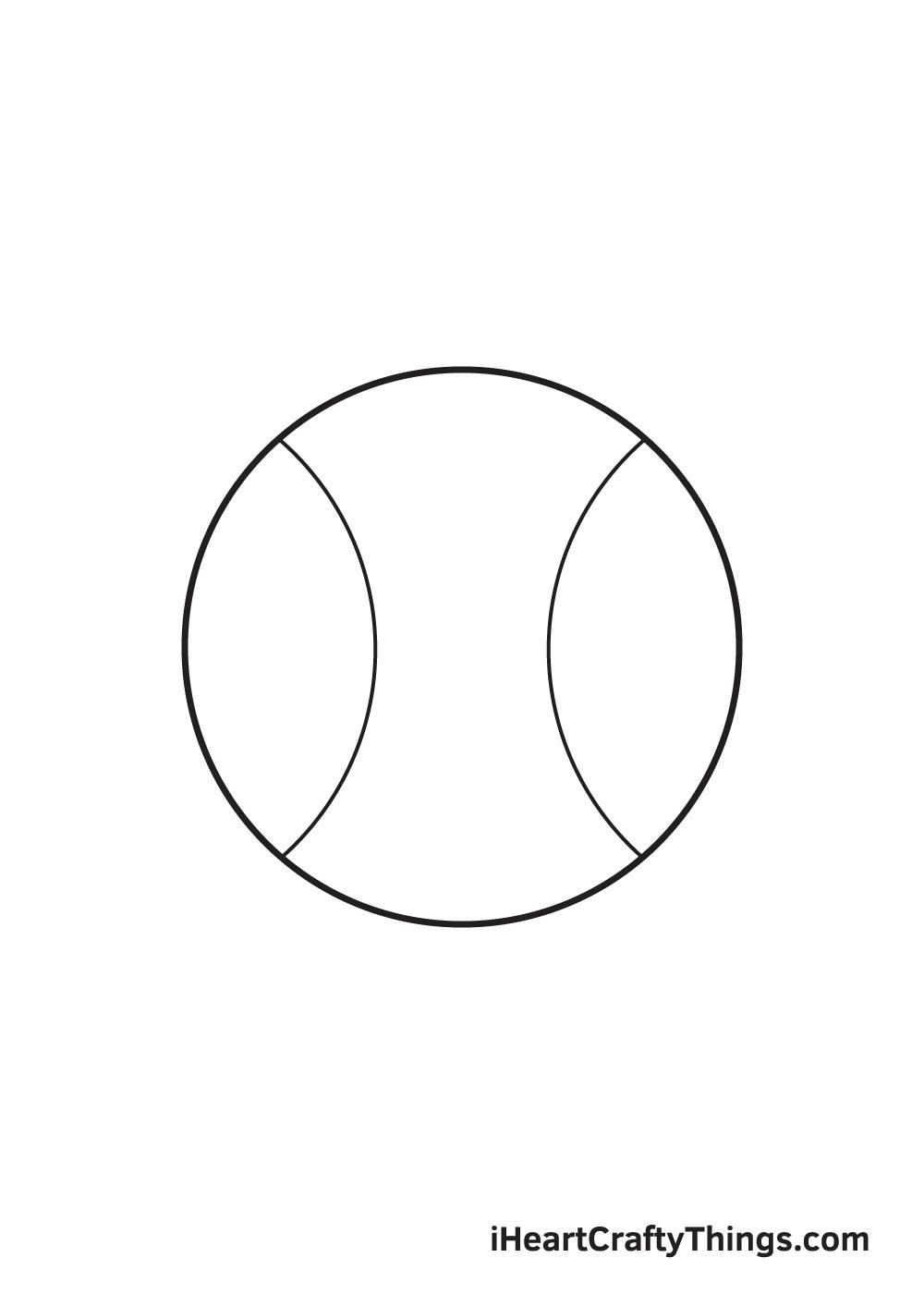 baseball drawing step 4