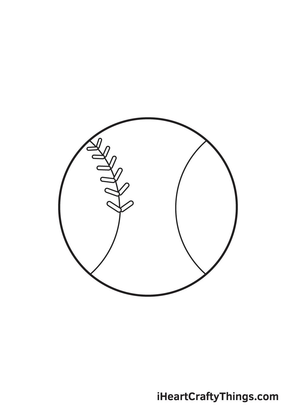 baseball drawing step 5