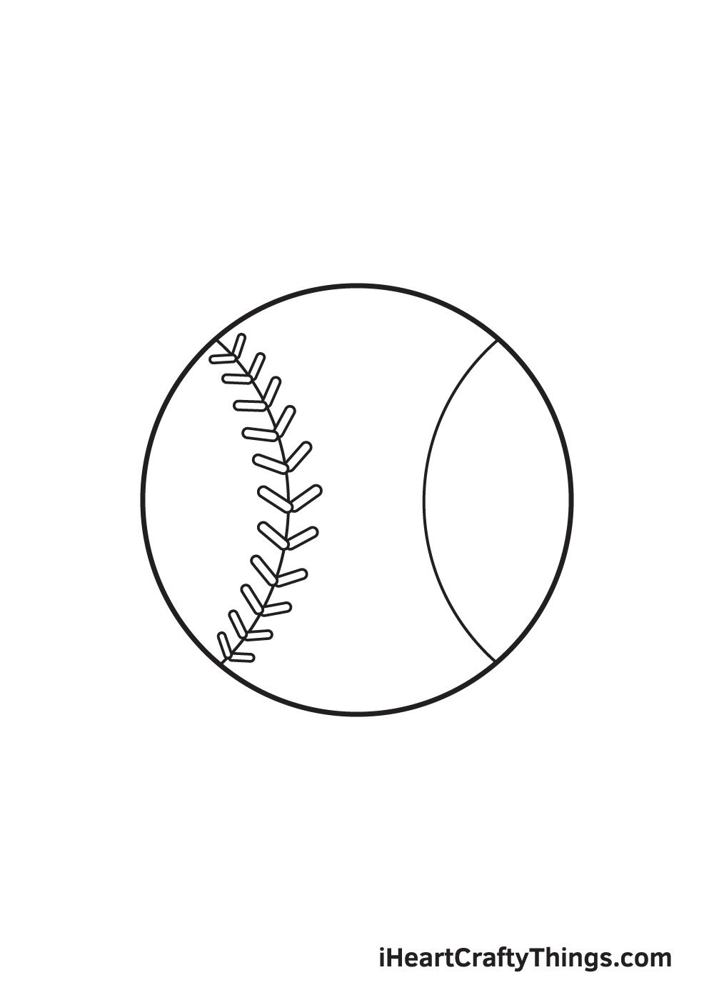 baseball drawing step 6