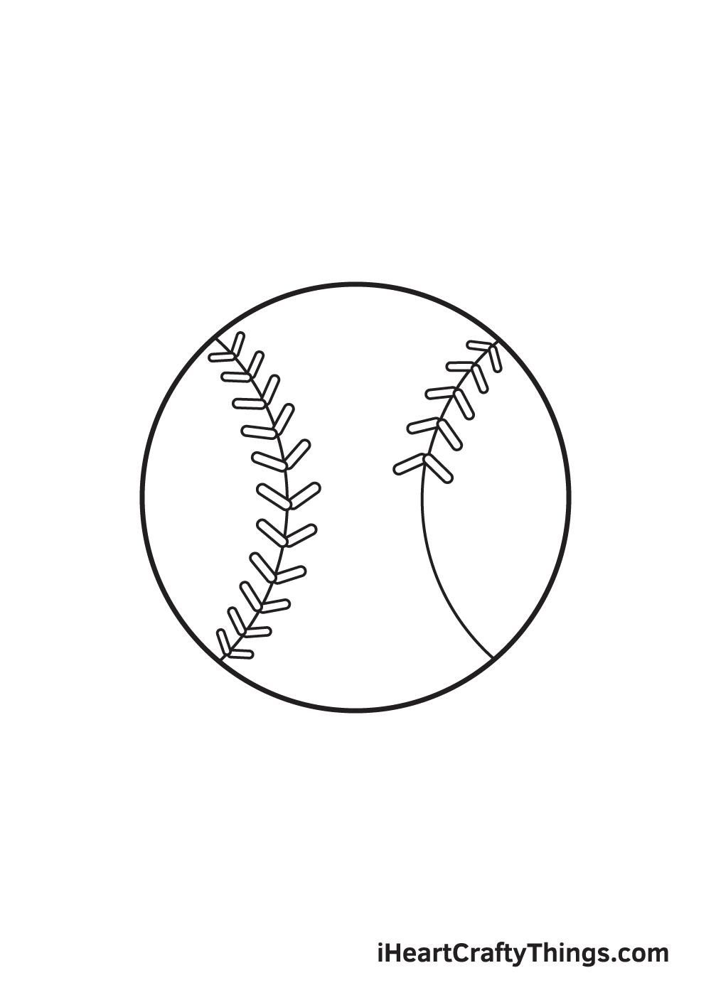 baseball drawing step 7