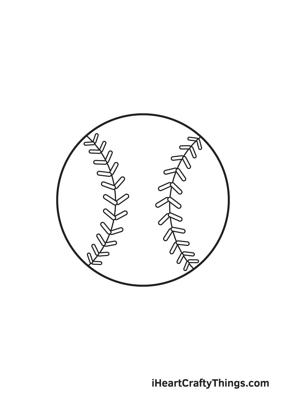 baseball drawing step 8