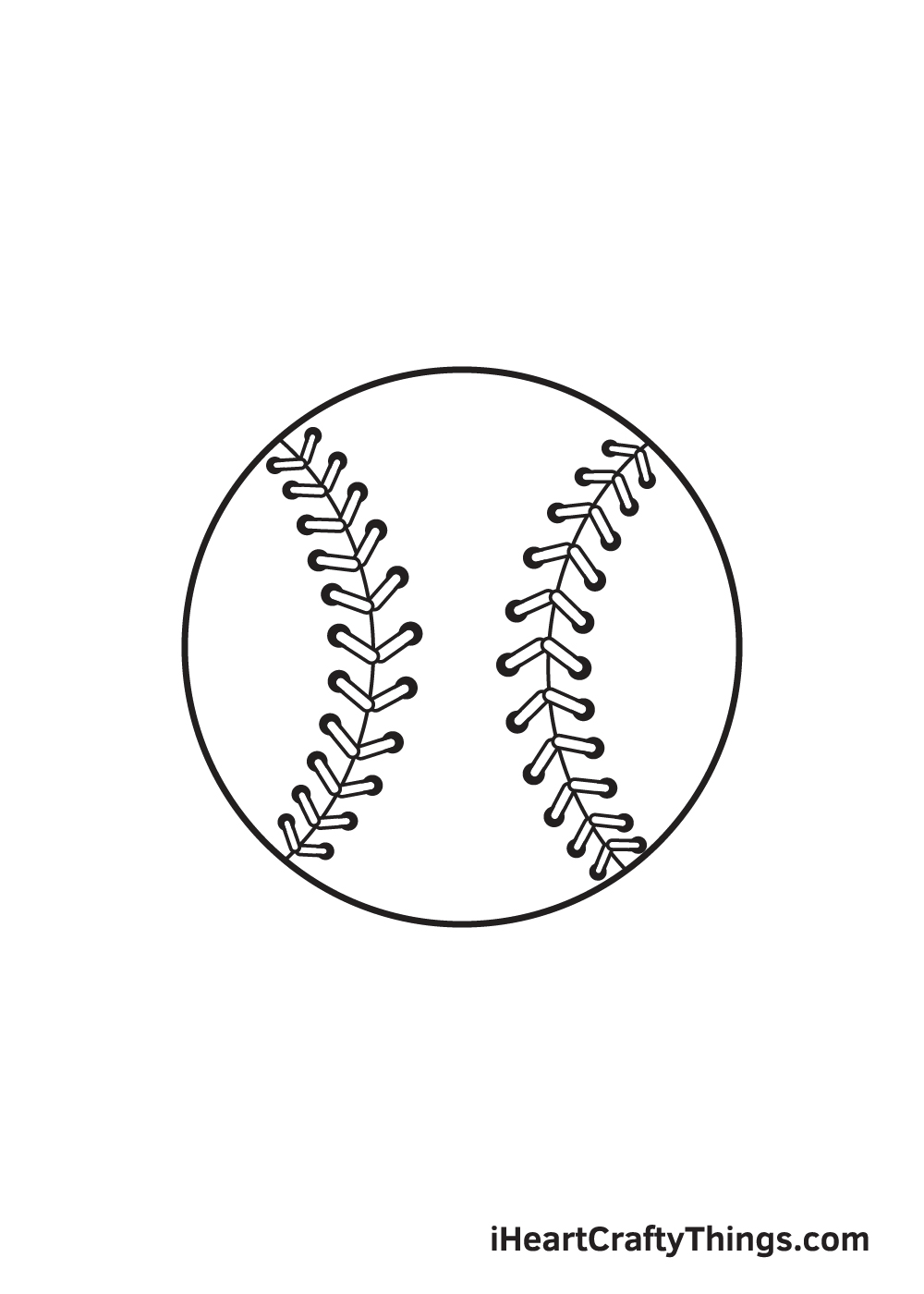 baseball drawing step 9