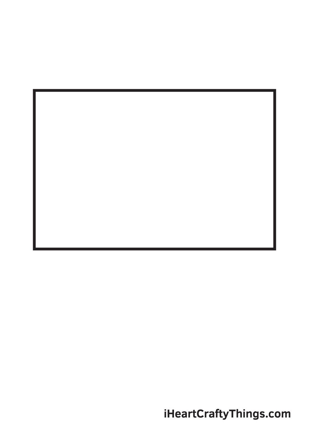 basketball hoop drawing step 1