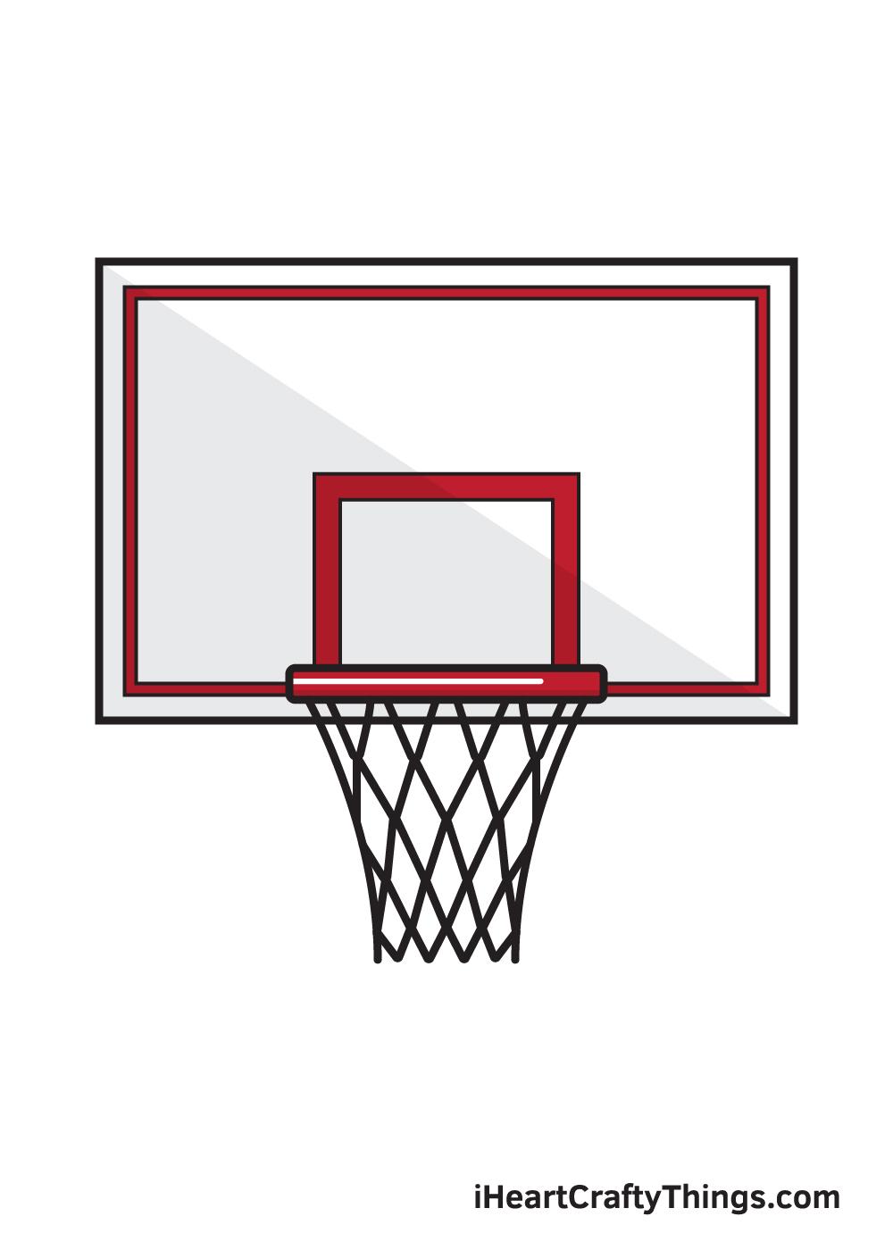 basketball hoop drawing 9 steps