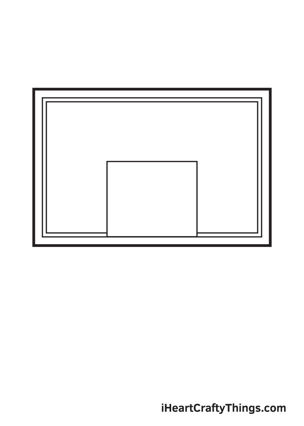basketball hoop drawing step 3