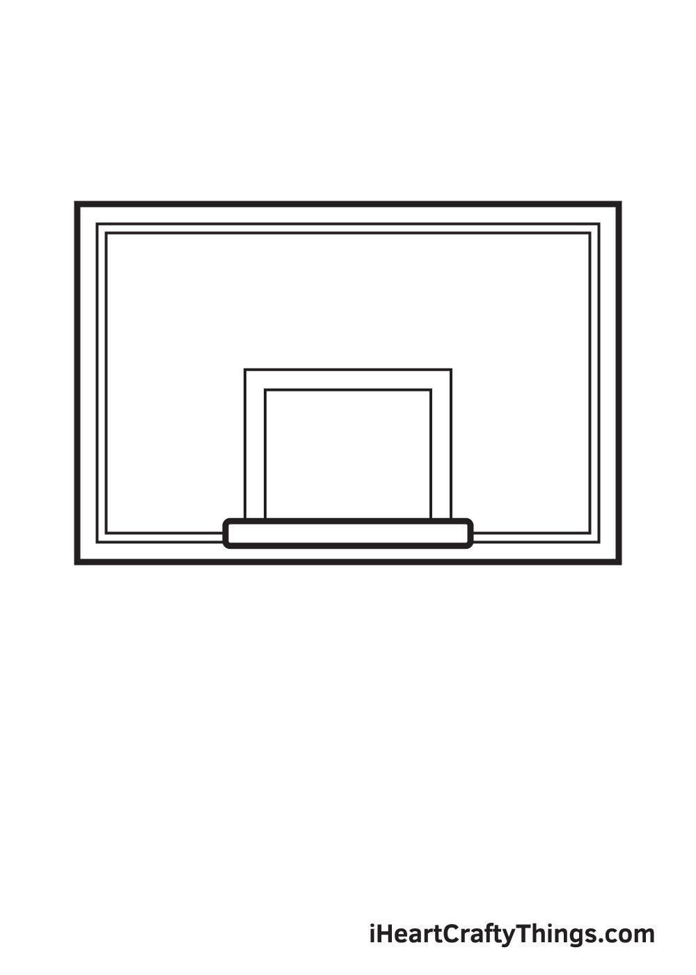 basketball hoop drawing step 5