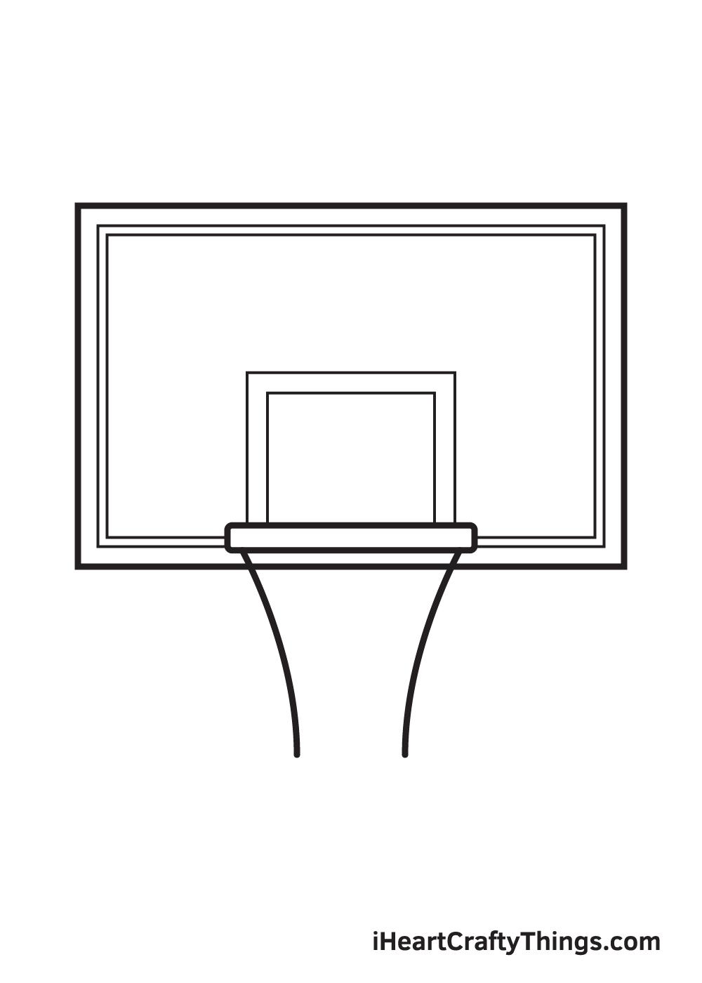 basketball hoop drawing step 6
