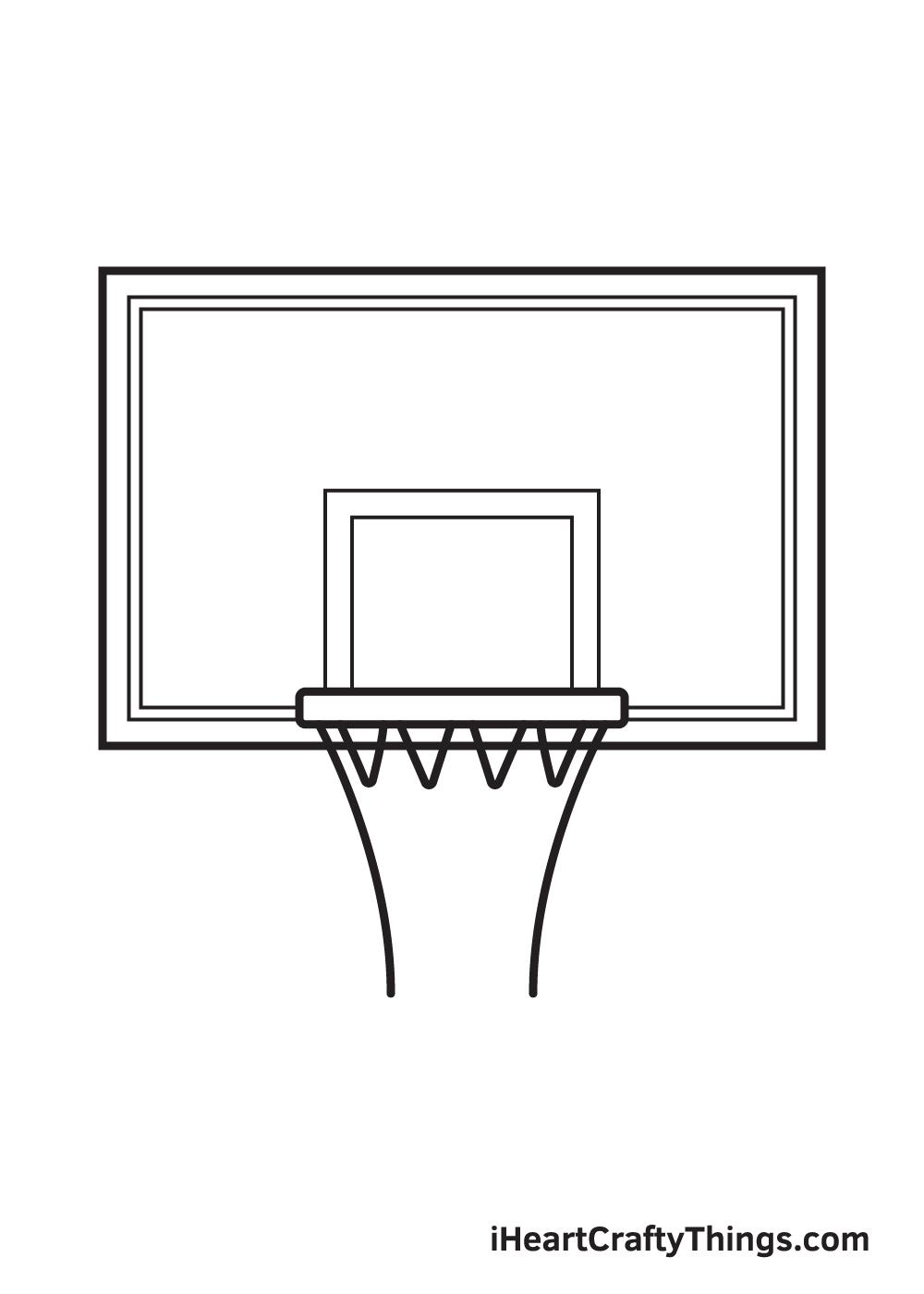 basketball hoop drawing step 7