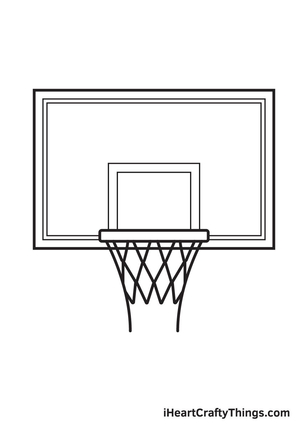 basketball hoop drawing step 8