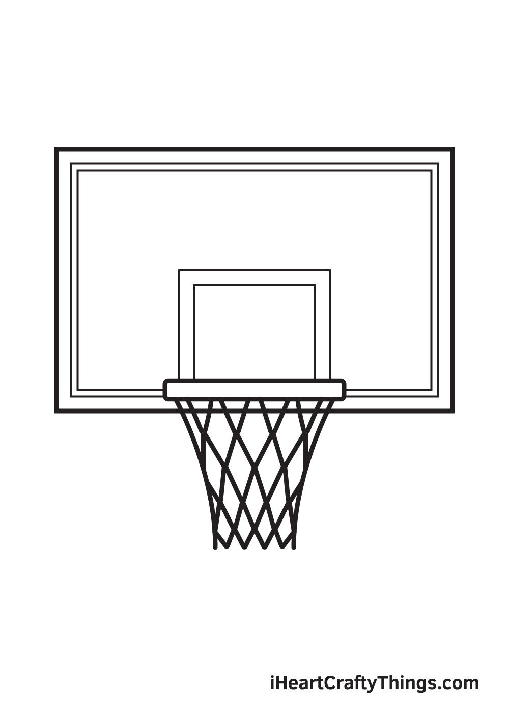 basketball hoop drawing step 9