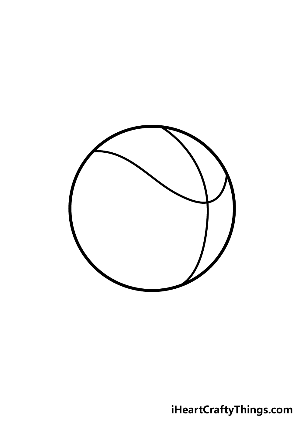 basketball drawing step 3