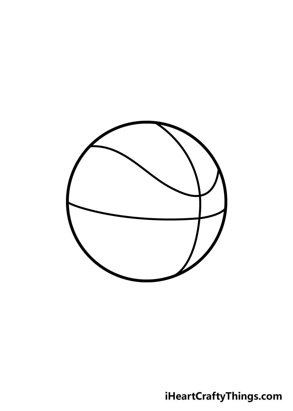 basketball drawing step 4