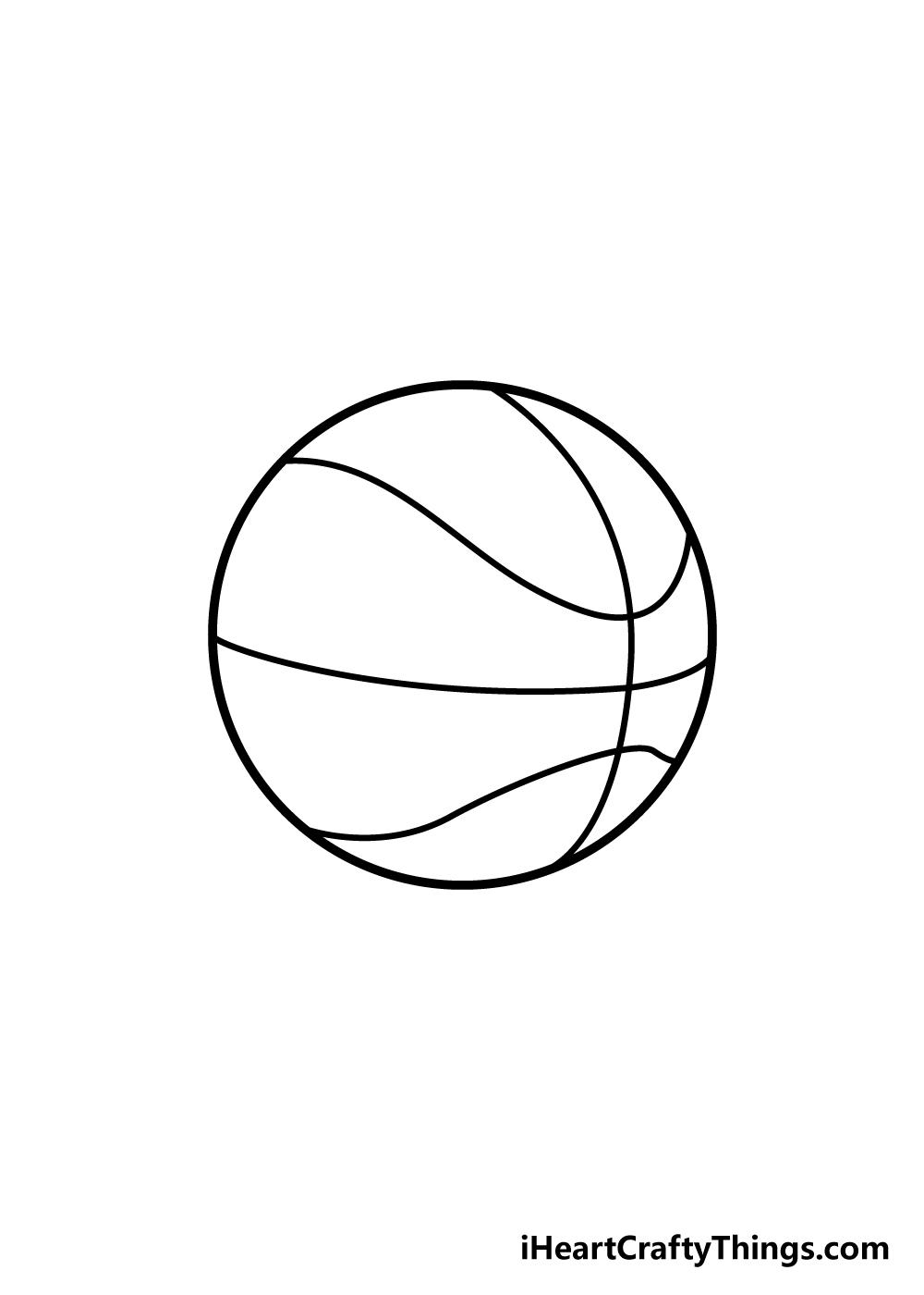 basketball drawing step 5