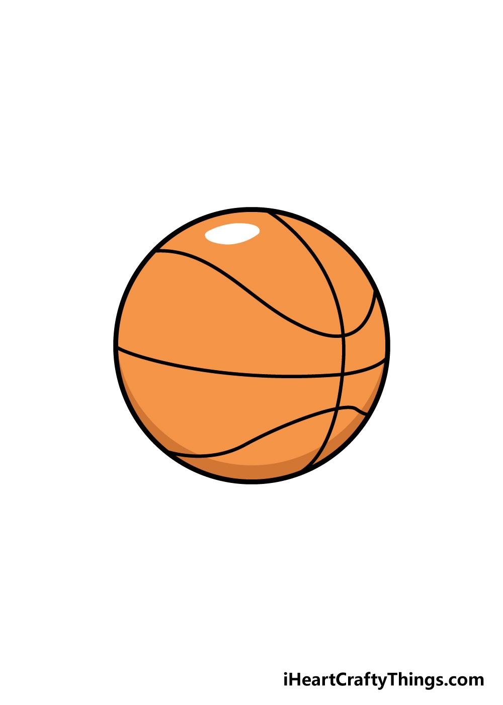 basketball drawing step 6