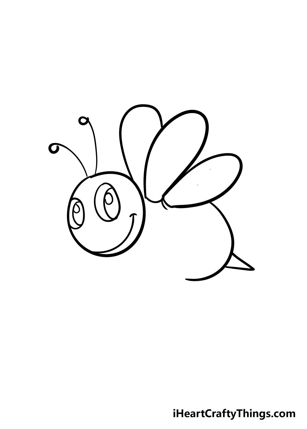 bee drawing step 4