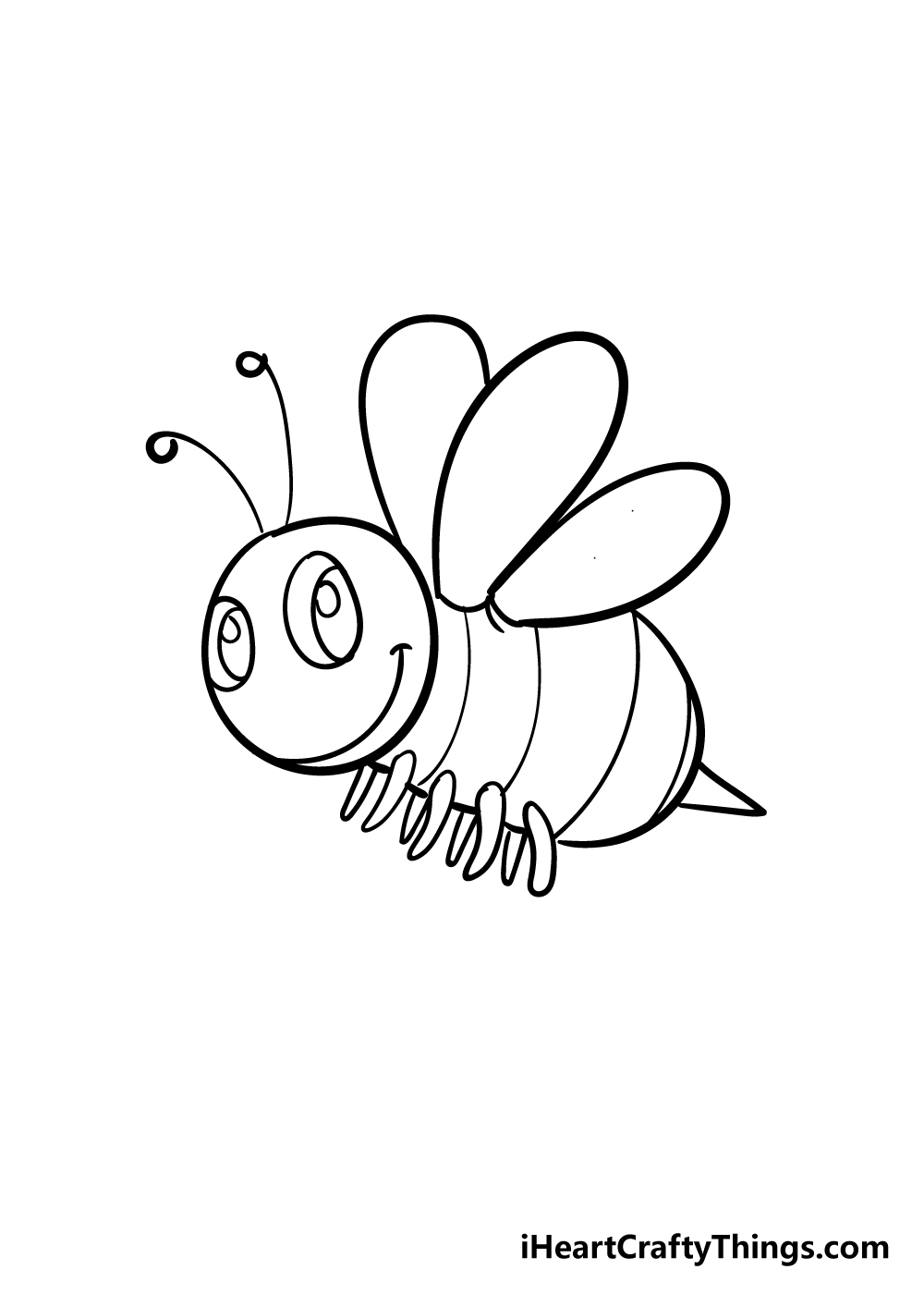 bee drawing step 5