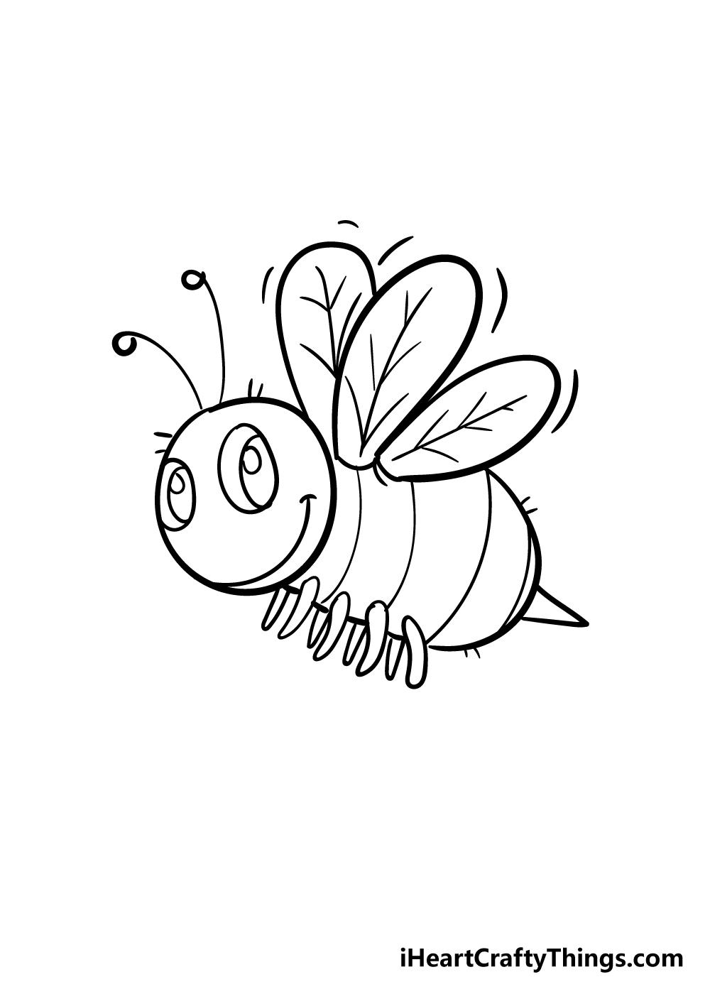 bee drawing step 6