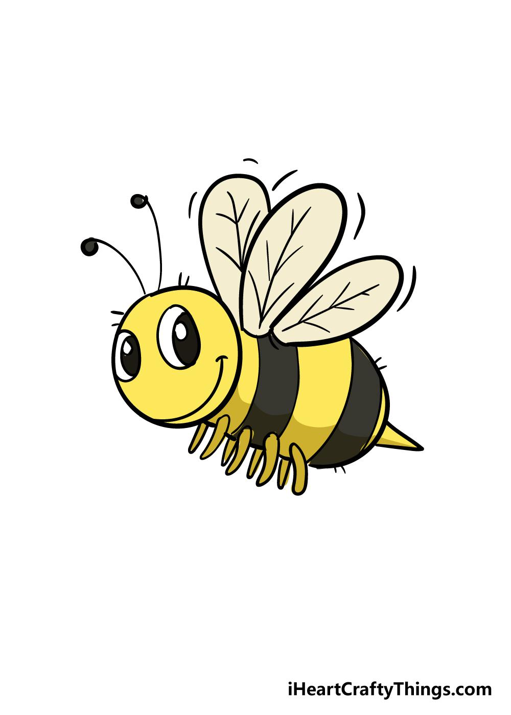 bee drawing step 7