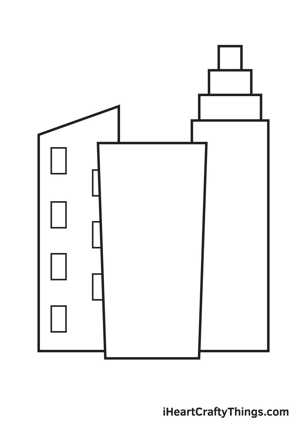 buildings drawing step 7