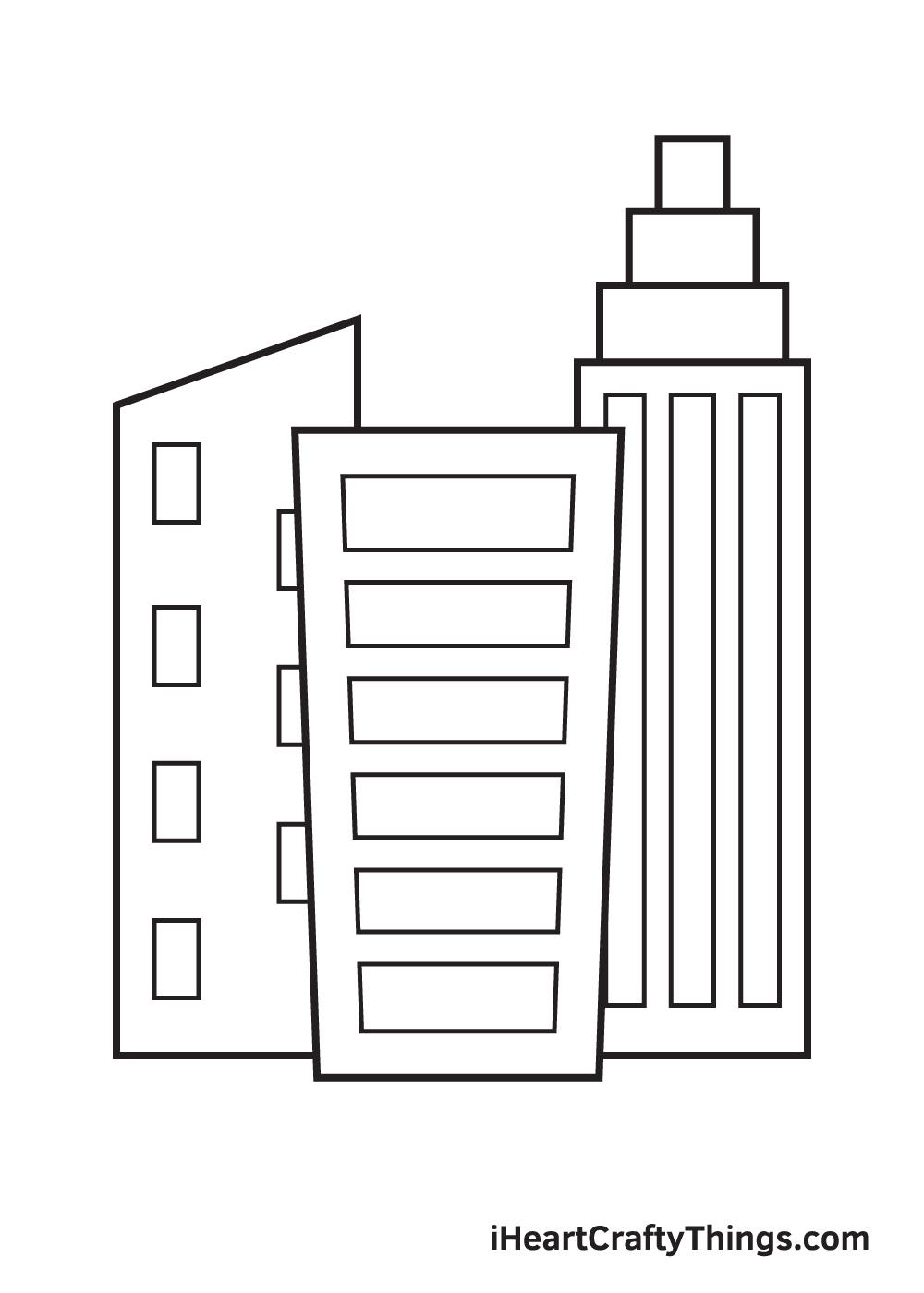 buildings drawing step 9