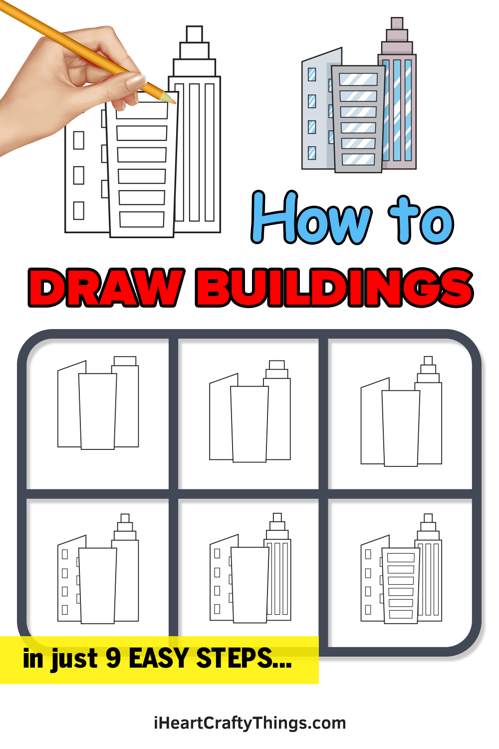 how to draw buildings in 9 easy steps