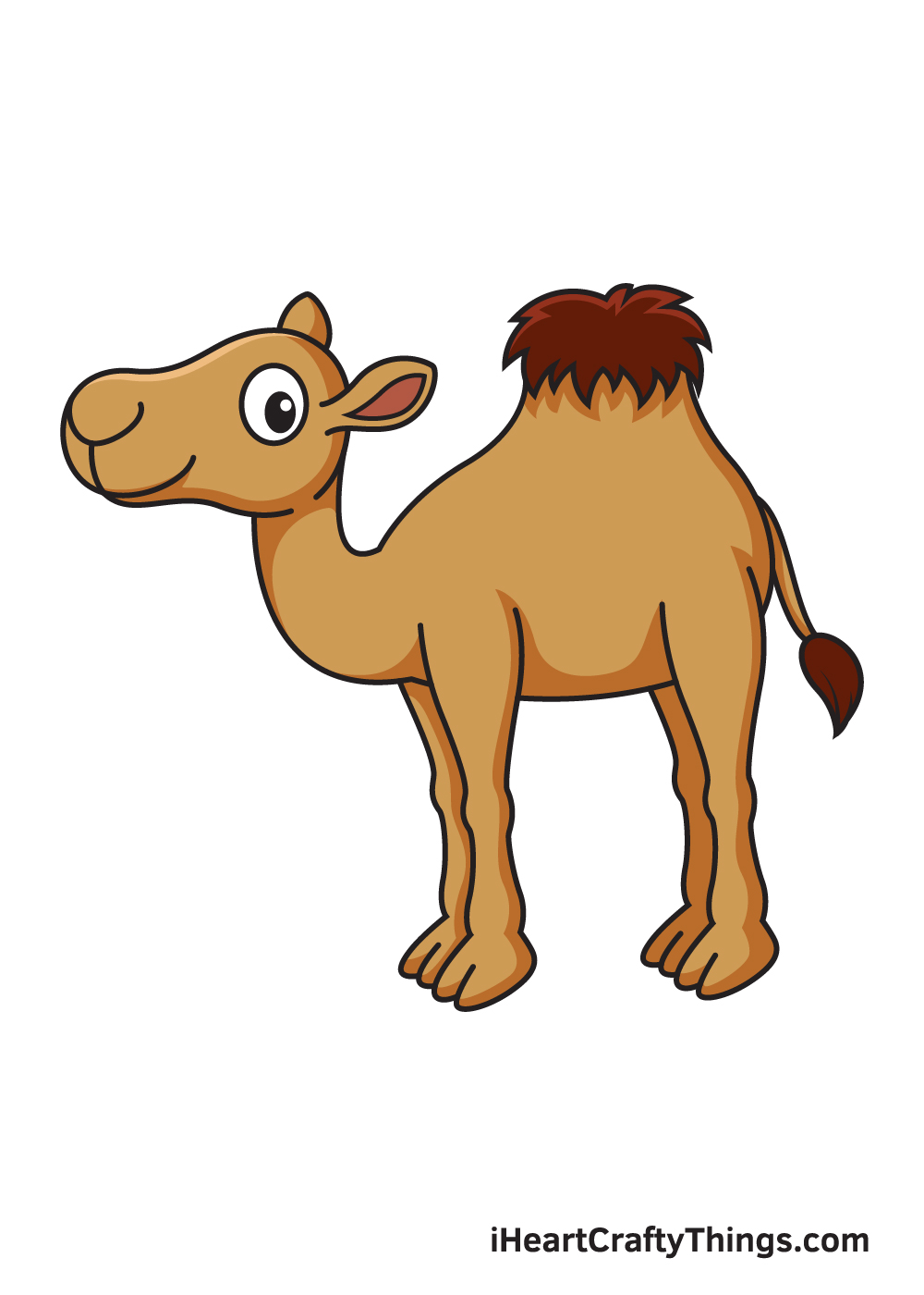 camel drawing 9 steps