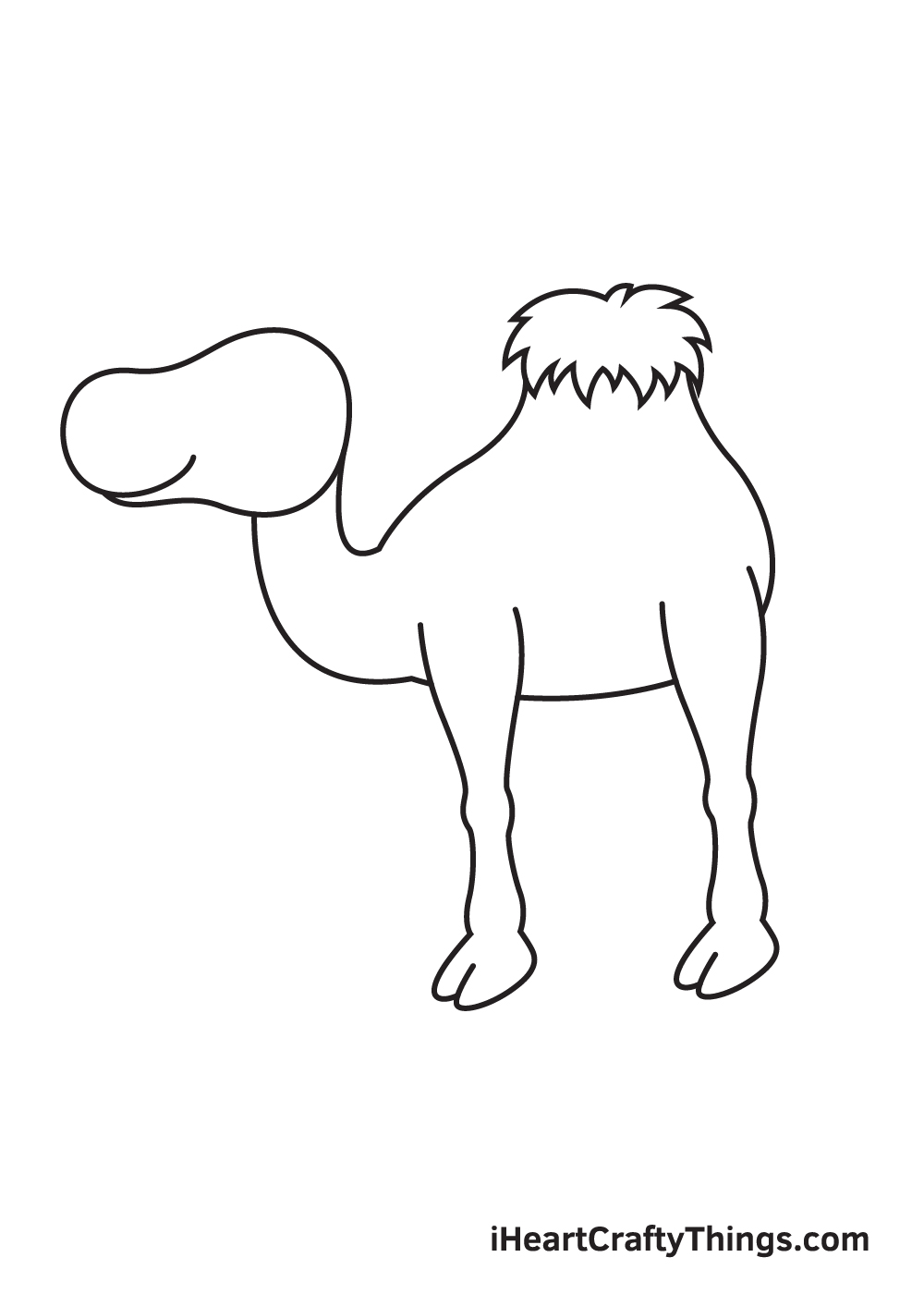 camel drawing step 4