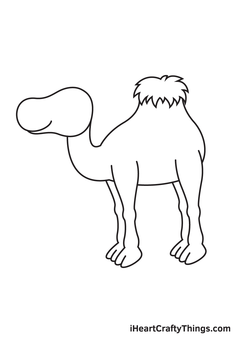camel drawing step 5