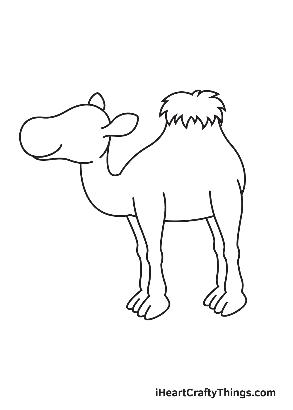 camel drawing step 6