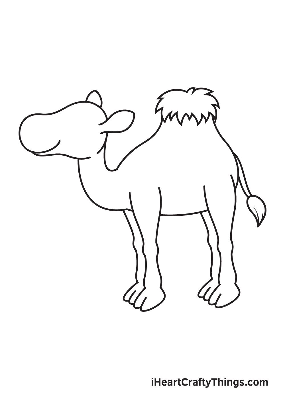 camel drawing step 7