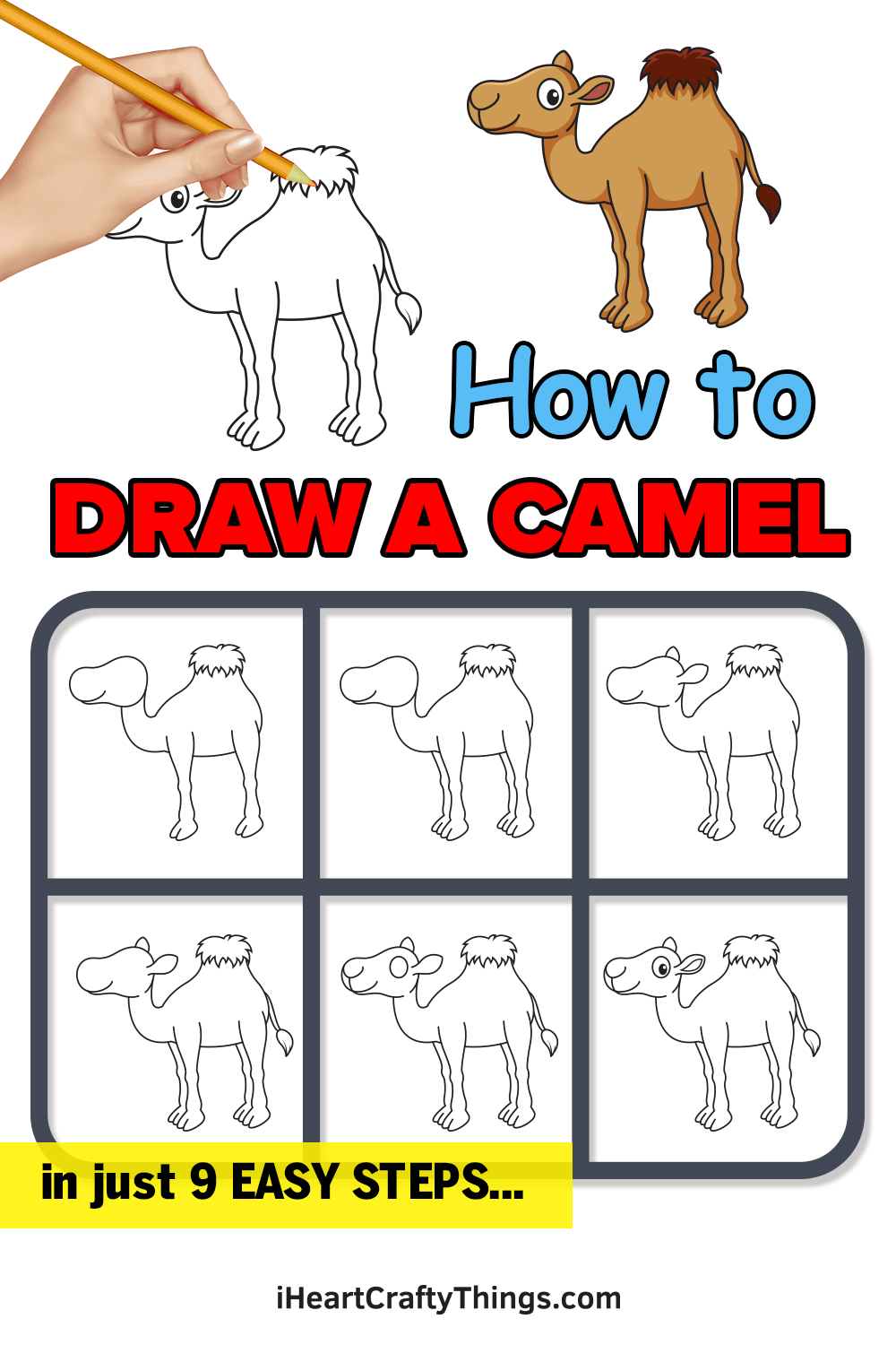 how to draw a camel in 9 easy steps