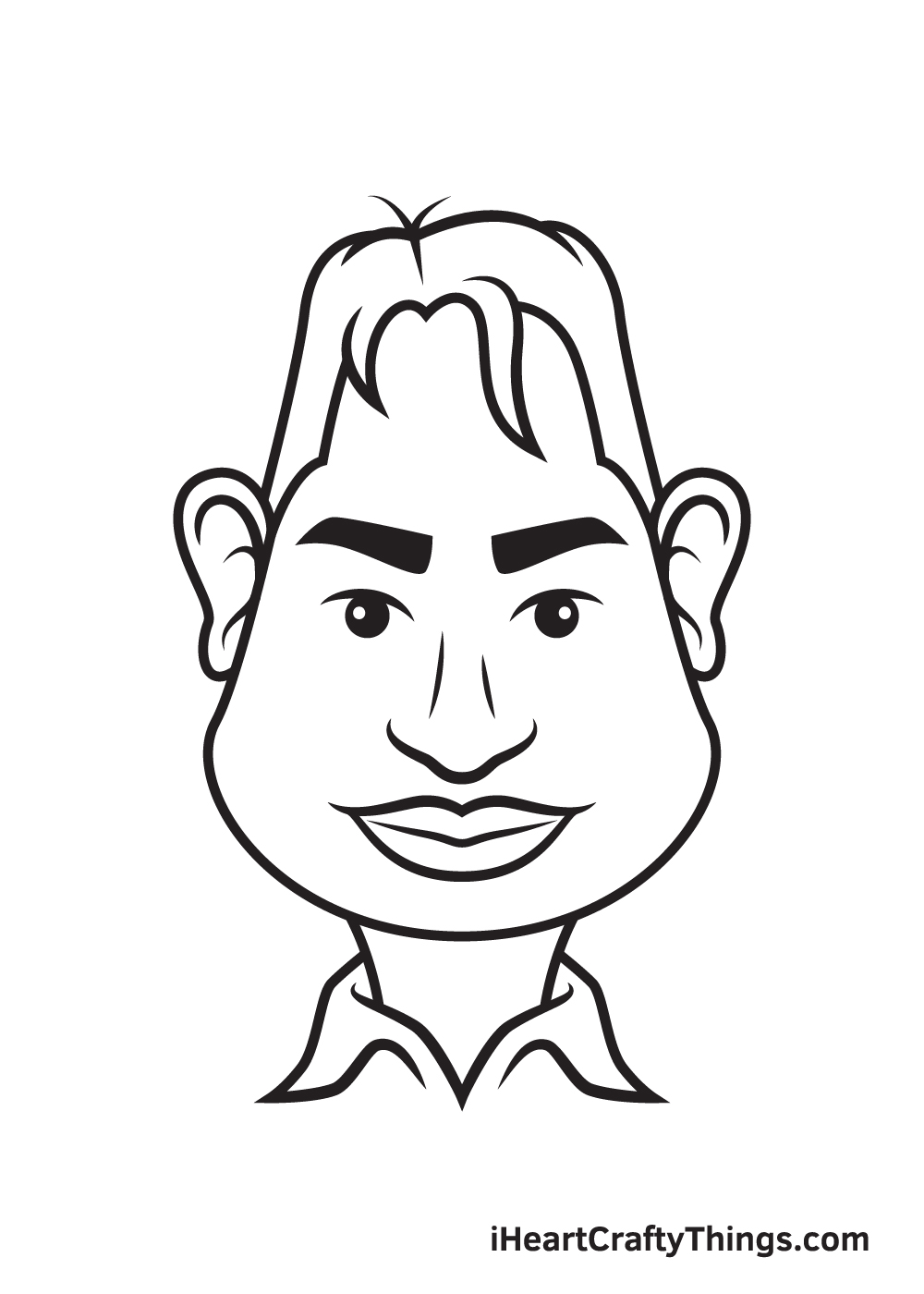 caricatures drawing step 9