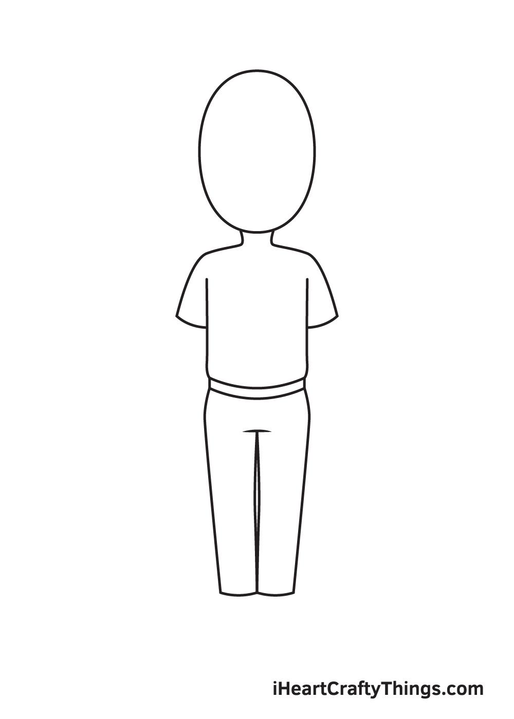 cartoon people drawing step 3