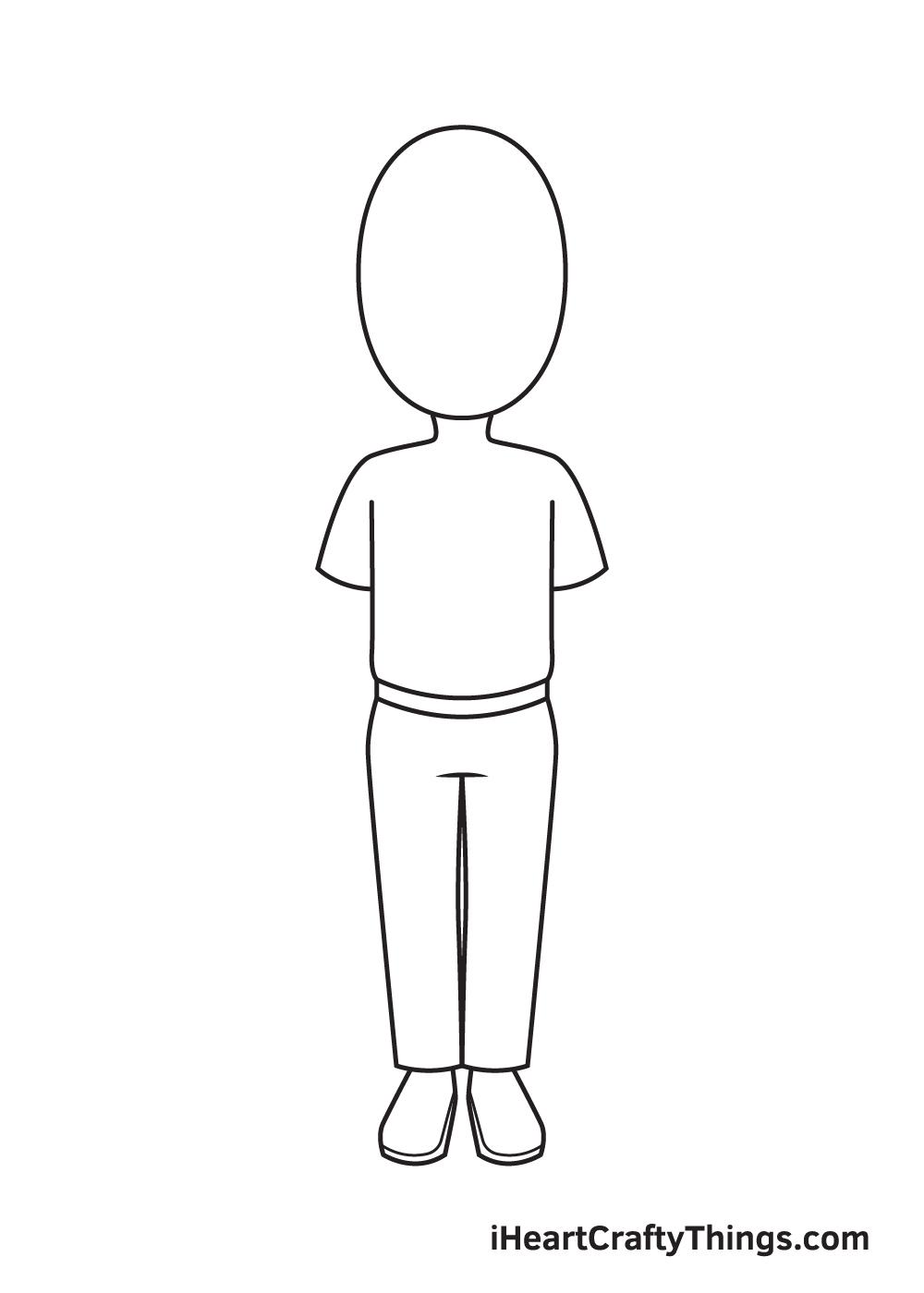 cartoon people drawing step 4