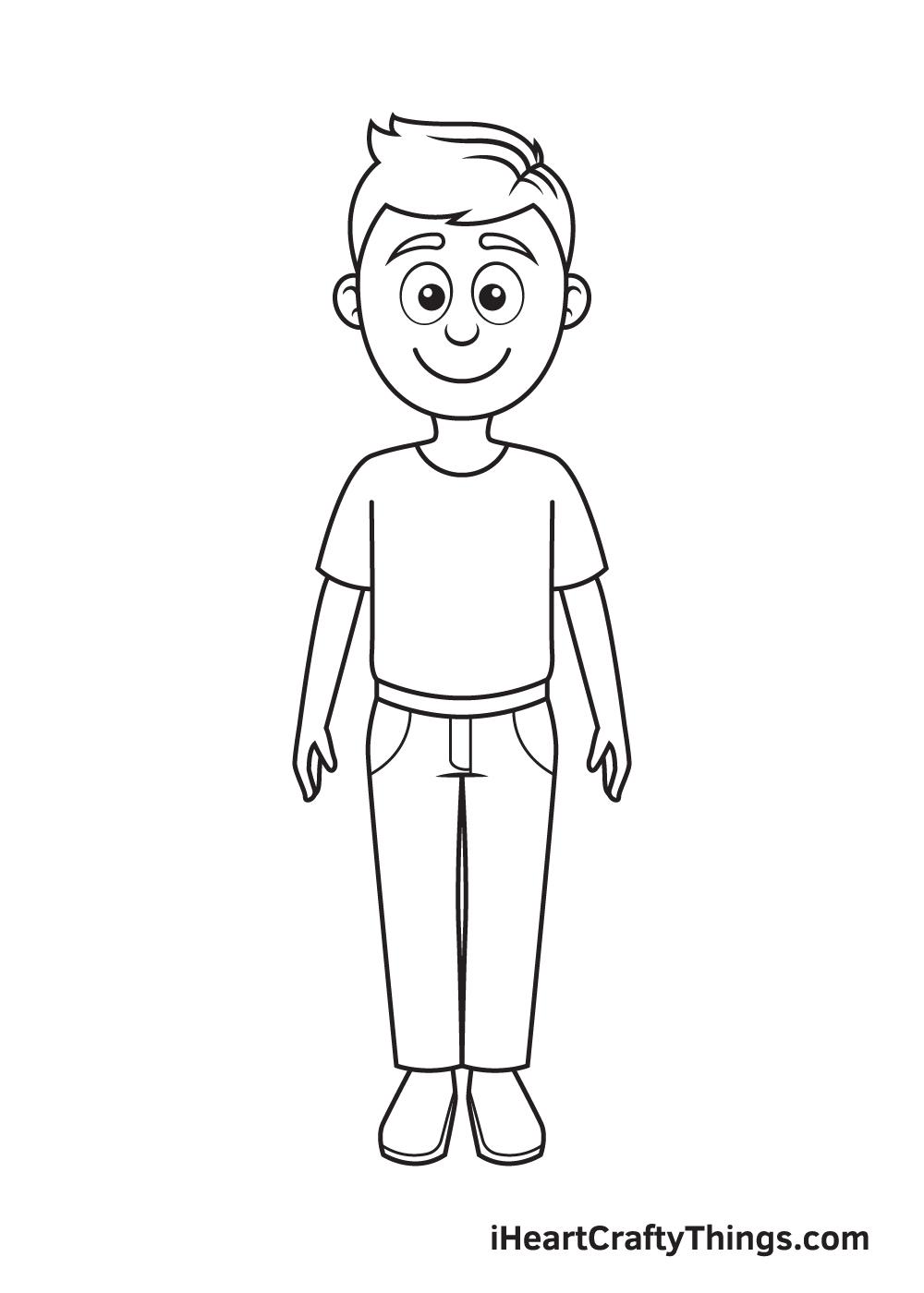 cartoon people drawing step 9