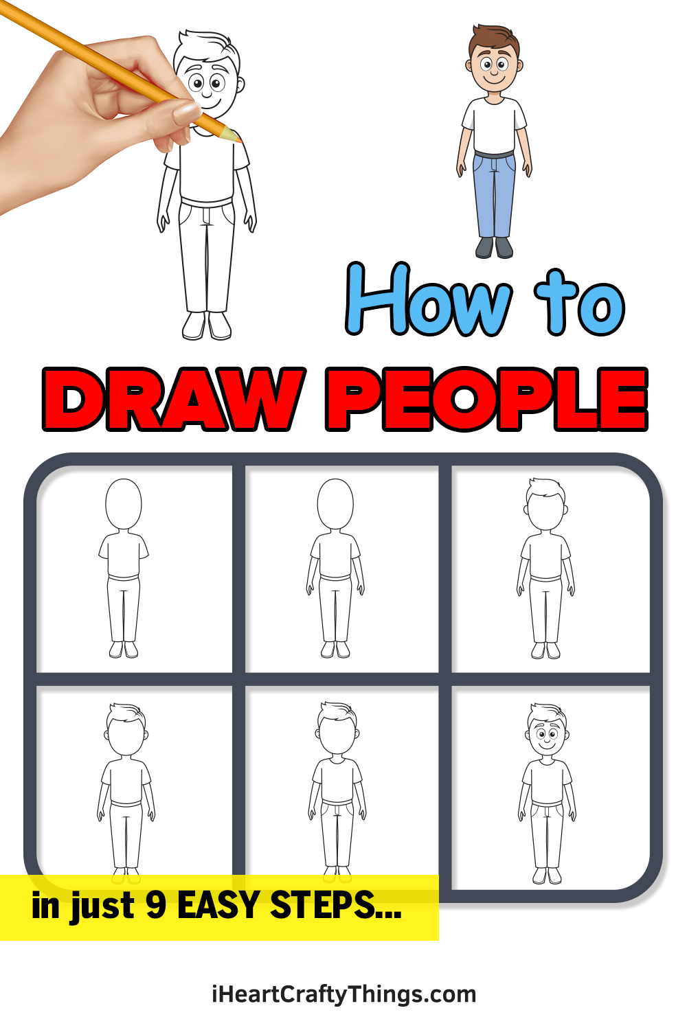 how to draw people in 9 easy steps