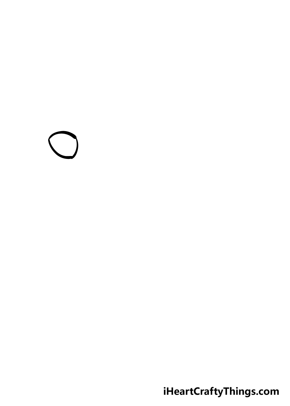 drawing chicken step 1